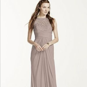 1aee730dee9 Women s Sleeveless Long Mesh Dress With Corded Lace on Poshmark